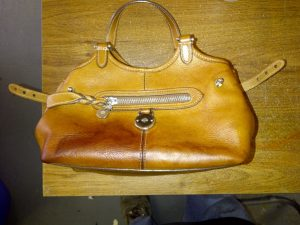 Handbag with satain before